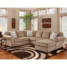 3050 COMPLETE SECTIONAL in Jesse Cocoa (LAF, FO, RAF)