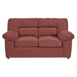 Loveseat - Red Chenille Finish