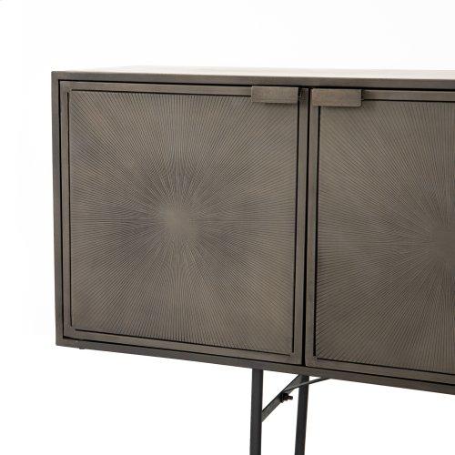 Antique Nickel Finish Sunburst Sideboard