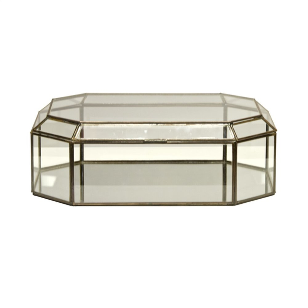 Octagonal Clear Glass Box