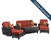 Breckenridge 6 Piece Patio Furniture Seating Set, Brick Red Product Image