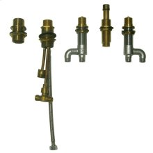 Deck-Mount Bath Faucet with Lever Handles, Hand Shower and Diverter Valve - No Color