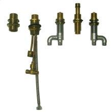 Deck-Mount Bath Faucet with Lever Handles, Hand Shower and Diverter Valve - No Color