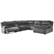 Clonmel - Charcoal 6 Piece Sectional