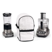 Quilted Cloth Appliance Cover White