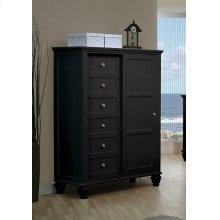 Sandy Beach Black Door Dresser With Concealed Storage
