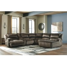 Clonmel - Chocolate 5 Piece Sectional