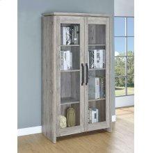 Rustic Grey Curio Cabinet