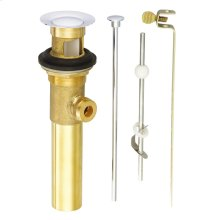 """Chrome 1 1/4"""" Metal Pop-Up Drain Assembly with Lift Rod"""