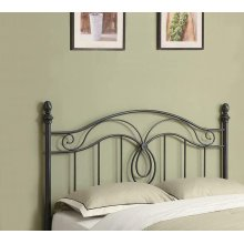 Traditional Gunmetal Iron Headboard