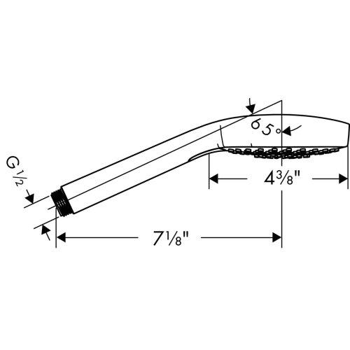 Brushed Nickel Handshower 110 3-Jet, 2.0 GPM
