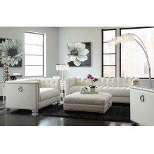 Chaviano Contemporary White Love Seat