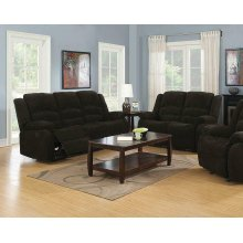 Gordon Chocolate Reclining Two-piece Living Room Collection