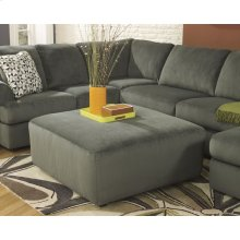 Signature Design by Ashley Jessa Place Oversized Ottoman in Pewter Fabric