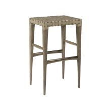 Milo Leather Backless Barstool