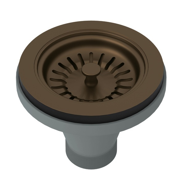English Bronze Manual Basket Strainer Without Remote Pop-Up