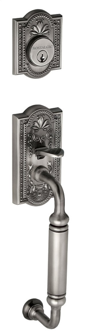 Nostalgic - Handleset Exterior Half - Meadows with C-Grip in Antique Pewter Product Image