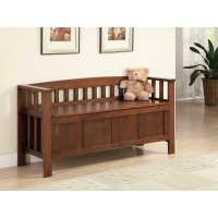 Traditional Brown Bench Product Image
