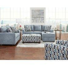 3900 Anna Sofa-Chaise in Blue/Grey (Sofa-Chaise & Floating Ottoman)