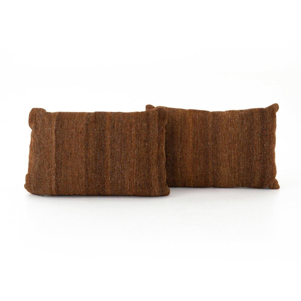 "16x24"" Size Tawny Kilim Pillow, Set of 2"