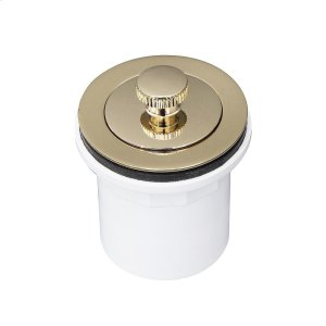 Lift u0026 Turn Tub Drain with PVC Adapter - Polished Brass Product Image