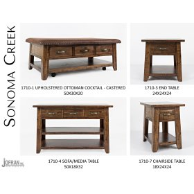 Sonoma Creek Ottoman Cocktail Table