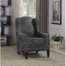 Traditional Grey and Cappuccino Accent Chair