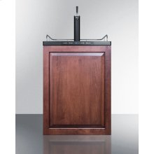 Built-in Residential Beer Dispenser, Auto Defrost With Digital Thermostat, Panel-ready Door, and Black Cabinet