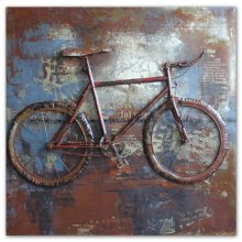 OUT OF STOCK Fixed Gears 31x31 Metal Wall Art