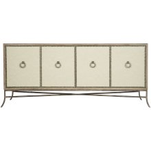 Rustic Patina Entertainment Console in Sand (387)