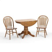 Classic Oak Solid Oak Drop Leaf Pedestal Top Product Image