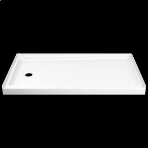 """White ProCrylic 60"""" x 32"""" Shower Base Left Drain Product Image"""