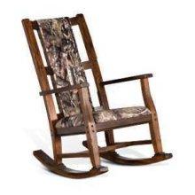 Santa Fe Rocker w/ Mossy Oak Fabric Seat & Back