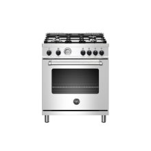 30 inch All Gas Range, 4 Burner Stainless Steel