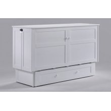 Clover Murphy Cabinet Bed in White Finish