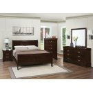 Louis Philippe Cappuccino Queen Sleigh Bed Product Image