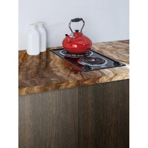 230v 2-burner Coil Cooktop In Black Porcelain; Made In the USA