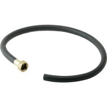 """Elkay 36"""" Black Heavy Duty Rubber Hose with Standard Female Faucet Hose Connection on One End"""