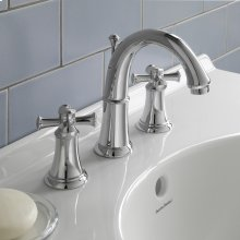 Portsmouth 2-Handle 8 Inch Widespread High-Arc Bathroom Faucet with Cross Handles  American Standard - Polished Chrome