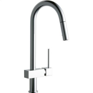 Elkay Avado Single Hole Kitchen Faucet with Pull-down Spray and Lever Handle Product Image