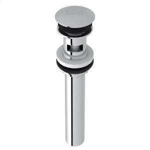 "Polished Chrome Slotted Touch Seal Dome Drain With 6"" Tailpiece Product Image"