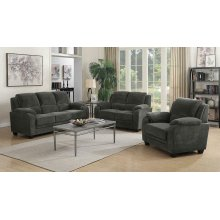 Northend Charcoal Three-piece Living Room Set