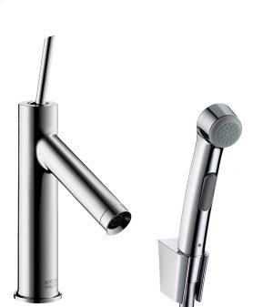 Chrome Single lever basin mixer 90 with bidette hand shower and shower hose 1.60 m Product Image