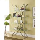 Contemporary Chrome and Glass Bookcase Product Image