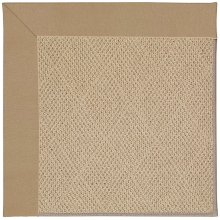 Creative Concepts-Cane Wicker Canvas Camel Machine Tufted Rugs