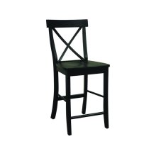 X-Back Stool in Black