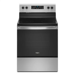 5.3 cu. ft. Whirlpool® electric range with Frozen Bake technology. Product Image