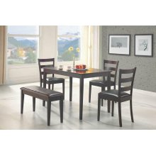 Taraval Cappuccino Five-piece Dining Set With Bench