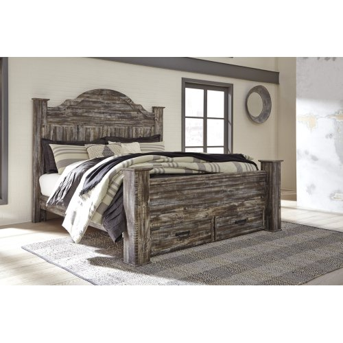 Lynnton - Rustic Brown 5 Piece Bed Set (King)