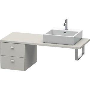 Brioso Low Cabinet For Console, Concrete Gray Matte (decor)